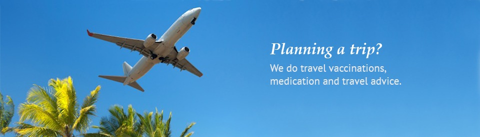 We do travel vaccinations,  medication and travel advice.